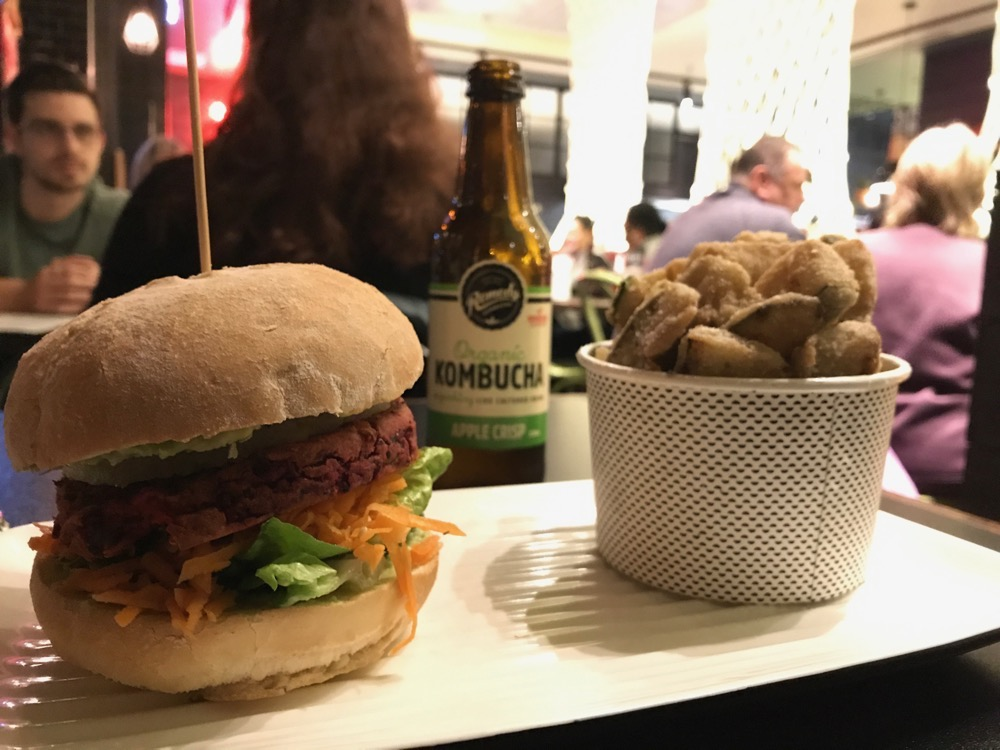 Grilld - 'Veggie Vitality' burger, with zucchini fries